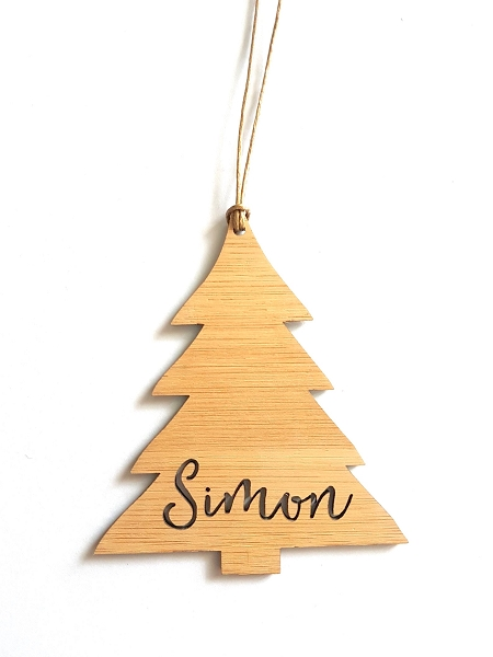Tree Personalised Christmas Ornament